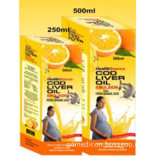 Cod Liver Oil with Fresh Orange Juice