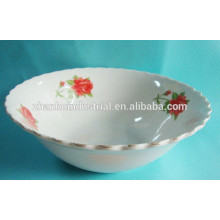 Cuenco de cerámica impreso personalizado, cuencos decorativos de cerámica