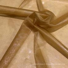 Tissu ultra fin en polyester avec revêtement en poudre brillant