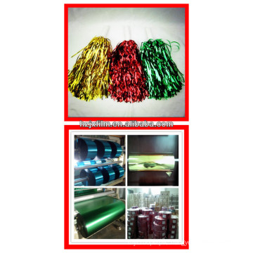 Colorful MPET film for garland