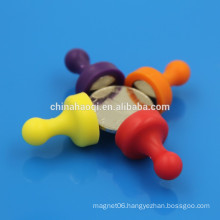 colorful NdFeB push pin office magnet round