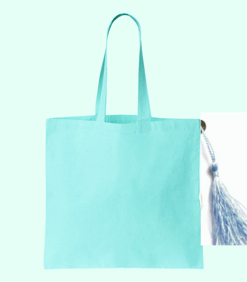 canvas blue bag