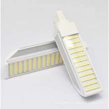 G24 / E27 9W11W12W lâmpadas de milho LED Light \ Horizontal Plug Lamp com tampa 5050SMD