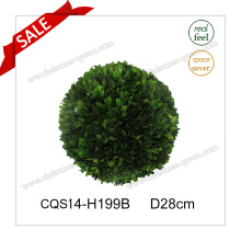 D20cm Real Ball Feita de bola de Natal Boxwood Leaf
