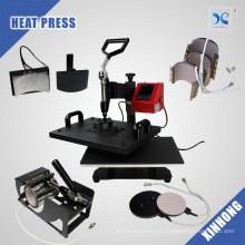 HP7IN1 sublimación t shirt impresión combo máquina de prensa de calor en Bangladesh
