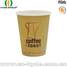 Tasses de café jetables directes de papier d'usine avec l'impression faite sur commande