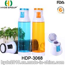 Plástico libre BPA portátil plegable deportes botella de agua (HDP-3068)