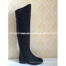Fashion Low Heels Long Gummi Frauen Warm Stiefel