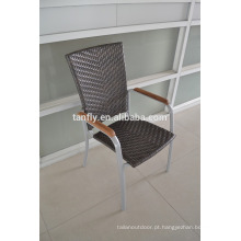 cheap price outdoor rattan furniture hot sale teak arm wicker chair