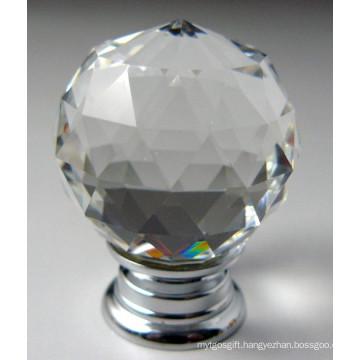 Clear Cut Faces Ball Crystal Brass Knobs (JD-KN-A004)