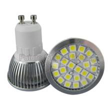 Super Bright GU10 Base 24PCS 5050 SMD LED Light (380lm, 4.5W, Metal Shell)