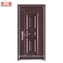 Diseño de puerta única de acero inoxidable Panel de piel de puerta galvanizada de puerta de acero antirrobo