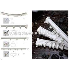 plastic white sliding straight panel curtain track
