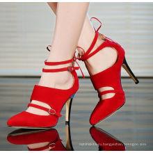 2017 элегантный womensshoes с красными высоких каблуках сандалии женщин