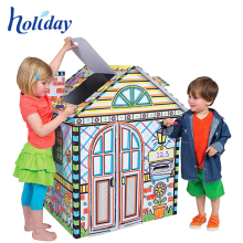 Most Popular Creative children train cardboard playhouse