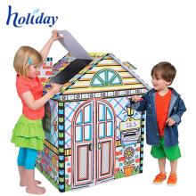 Самые популярные творческие дети Железнодорожный картонный домик