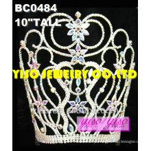 Jóias femininas tiara de coroa de luxo