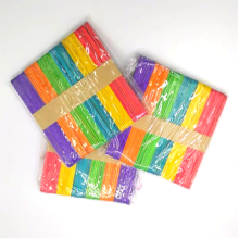 Hot sale 114*10*2mm Colorful diy Wooden ice cream Sticks for children