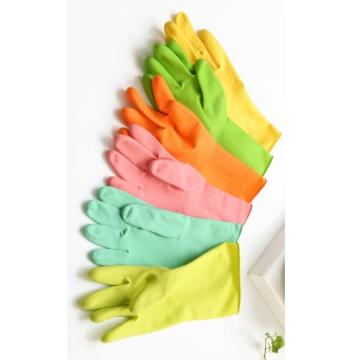 Rubber Gloves Latex with flocking