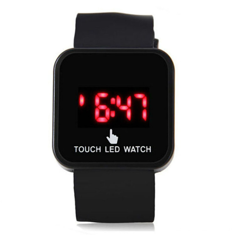 Unisex sport silicone led watch health digital watch