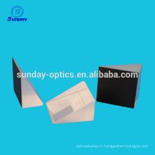 Prisme de verre optique à revêtement réfléchissant