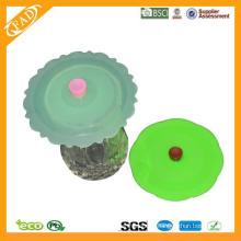 Tasse à café en céramique approuvée par la FDA Tasse à thé en porcelaine avec couvercle en silicone / couvercle en silicone en céramique