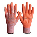 13G Chineema Knitted Cut Resistant Gloves with Orange Foam Nitrile Palm Dipped