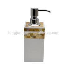 Madrepérola shell mosaico hotel banheiro artigos marisco cerâmica manual sabão dispensador