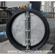 Válvula de retención de doble placa recubierta de goma