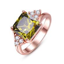 Green Zicron Bijoux en or plaqué or diamants