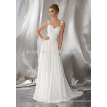 Ein Großhandel Illusion Spitze appliqued Gurt offenen Kleid Kleid KB6867