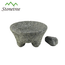 Almofariz e pilão com granito natural
