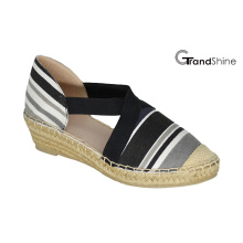 Women's Printed Canvas Espadrille Wedge Shoes