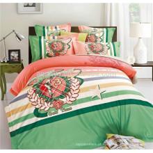 Twill estilo cetim de algodão egípcio conjunto de cama de edredon com zíper
