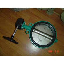 Carbon Steel Wafer Butterfly Valve with Gear Operator