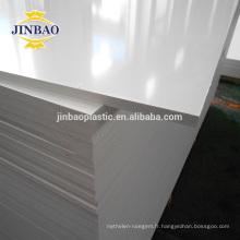 JINBAO 4mm blanc haute densité rigide pvc foamd mousse en plastique