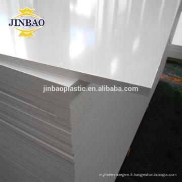 Panneau de PVC de mousse de couleur de JINBAO pour le matériel de panneau de signalisation d'affichage