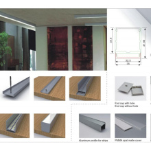 Canal de perfil de aluminio de 35X42mm con la cubierta para la luz de tira del LED