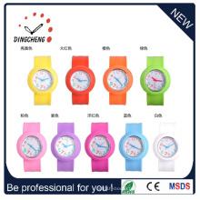 Montre personnalisée de claque de bracelet de silicone de promotion de mode (DC-095)