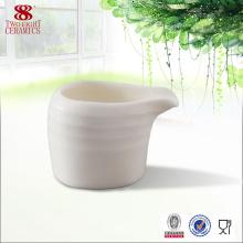 Nouveaux produits en porcelaine à vendre bon petit pot à lait en céramique blanche
