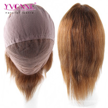 Color #4 Light Yaki Brazilian Full Lace Wig