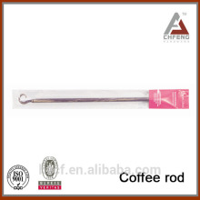 top design coffee rod, flexible hook shaped shower curtain rod, spring telescopic coffee rod