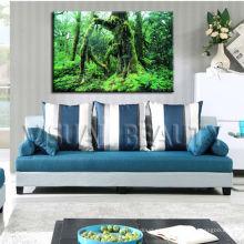 Pintura vieja del arte de la lona del bosque del árbol para la decoración