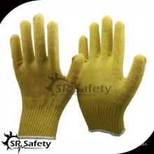 SRSafety 7G Защитные бесшовные трикотажные перчатки из арамидного волокна, защитные резиновые перчатки