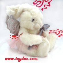 Plush Angel White Rabbit Toy