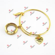 Gold Charms Dangles Brass Bracelet Bangles Jewelry (ODE60229)