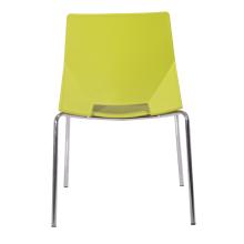 chaise en plastique de bureau de visiteur bon marché de vente d'usine avec quatre jambes en acier