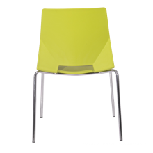 factory sale cheap visitor office plastic chair with four steel legs