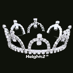 Wholesale Rhinestone Pageant Crowns Full Round Crowns