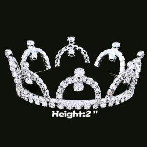 Coronas al por mayor del desfile del diamante artificial Coronas redondas completas